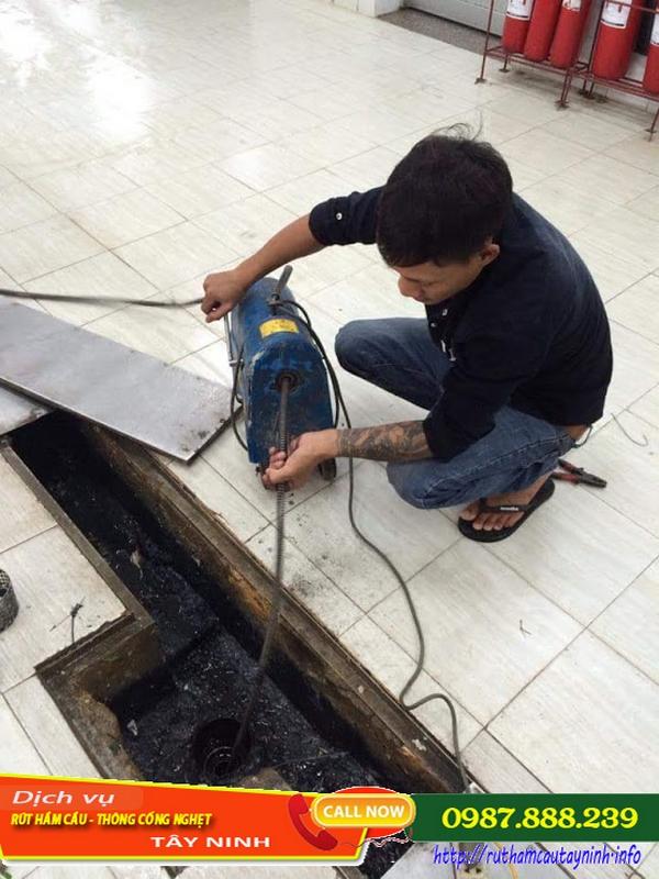 hút chất thải huyện Tân Biên