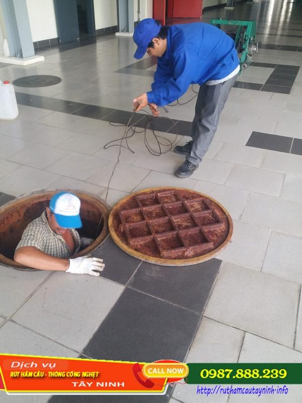 nạo vét hố ga huyện Dương Minh Châu